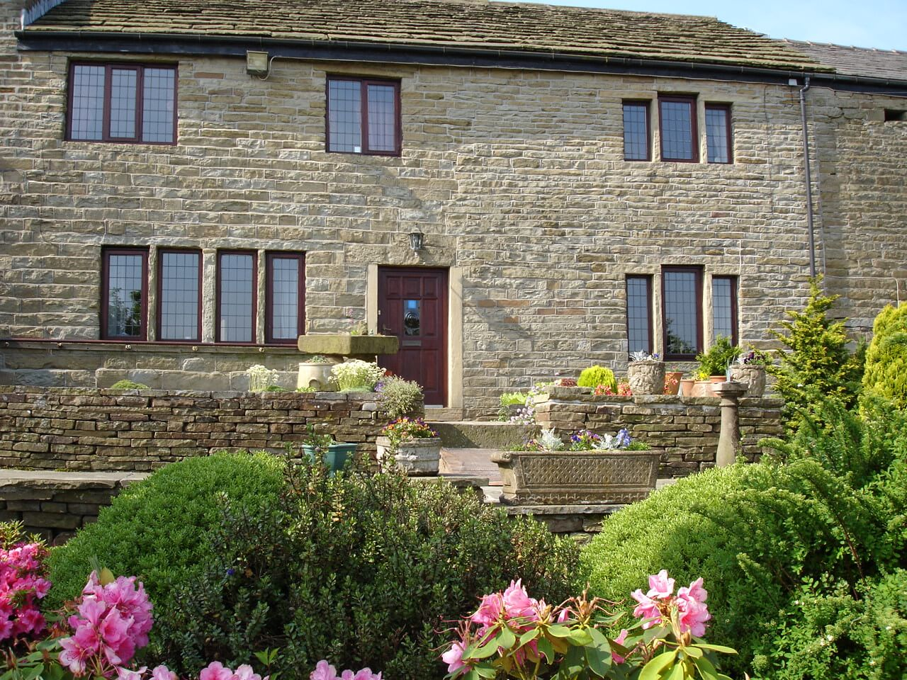 An impressive, stone-built farmhouse